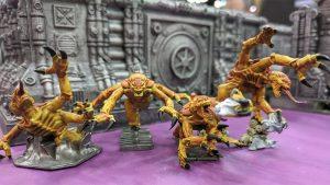 four genestealer miniatures